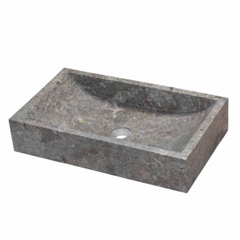 Sprijinirea Lavoar dreptunghiular Natural Stone Gri Satun
