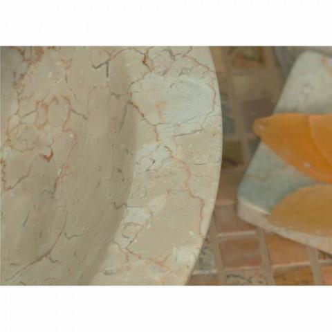Lavoar rotund Suport Piatra Bej natural In afara Raw Pai
