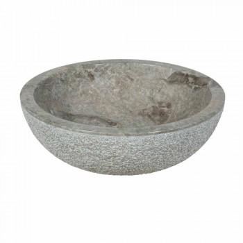 Lavoar rotund Suport Gri piatră naturală în afara Raw Pai