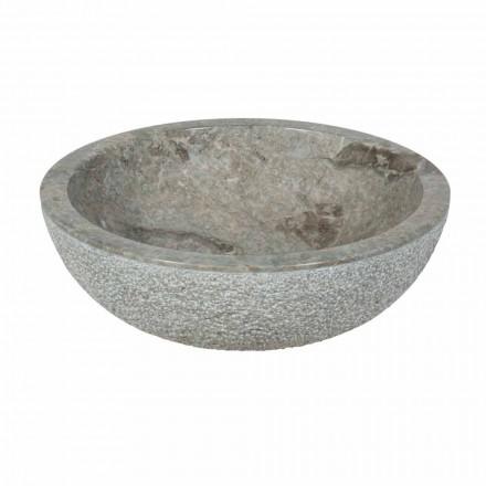 sprijin rotund Chiuvetă în exterior din piatră naturală gri Aspră Pai