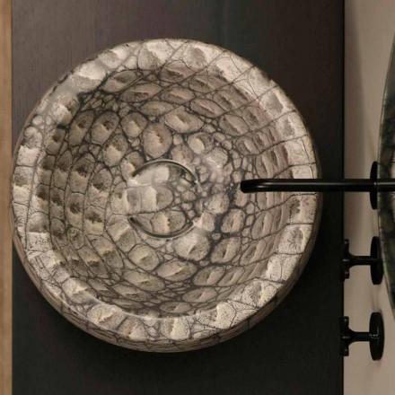 Caiman ceramică răsucită cu blat rotund din Italia Elisa design