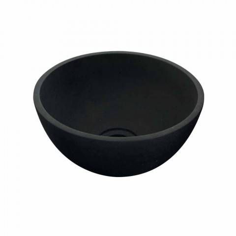 Chiuveta Sprijinirea Tondo în bazalt negru Kali