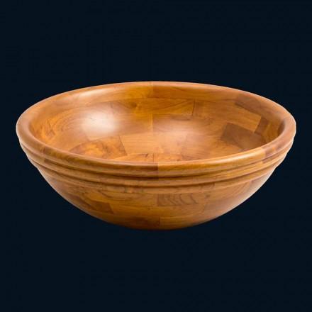 suport rotund Chiuvetă din lemn de tec Kobe, o bucată