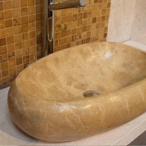 Sprijinirea chiuveta de piatră naturală rotundă Cremă Waka