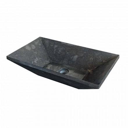 suport trapezoidal Blat în negru Wok piatră naturală