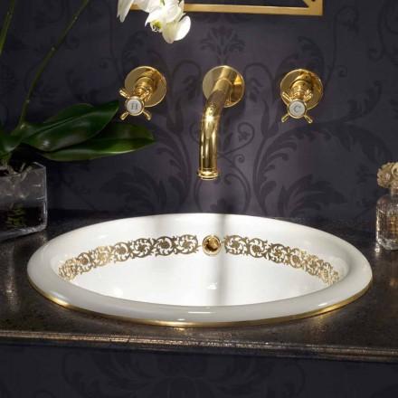 Built-in chiuveta baie în lut fire și 24k aur făcut în Italia, Otis