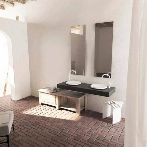 Design rundă de baie rotundă, proiectată în Italia, cremă