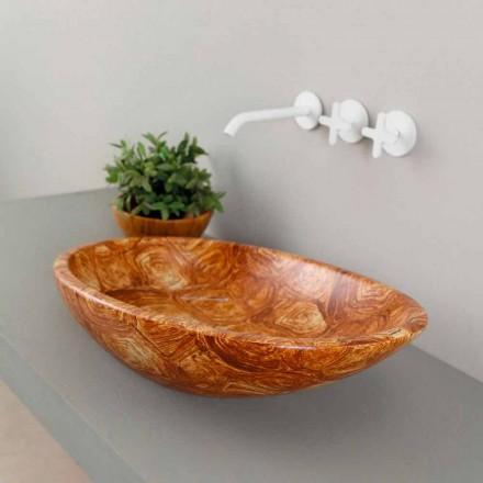 Proiectare chiuvetă ceramică contra-vârf făcută în Italia Glossy