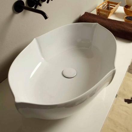 Blat de design din blat de ceramica alb din Italia Oscar
