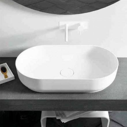 Design modern, chiuvetă ovală Dalmine Big, fabricată în Italia