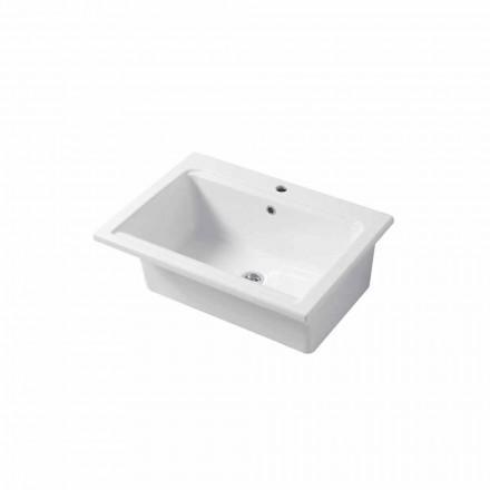 Chiuveta modernă cu o singură gaură în ceramică albă sau colorată Panama