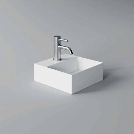 Pătrat sau dreptunghiular Lavabo ceramic de design modern fabricat în Italia - Act