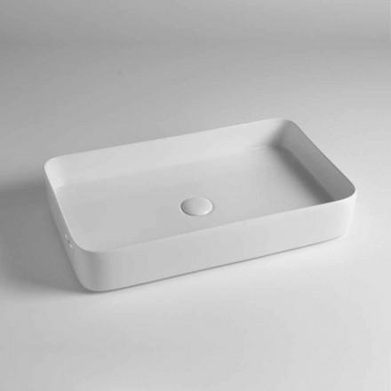 Lavoar dreptunghiular de blat din ceramică colorată făcută în Italia - Dable