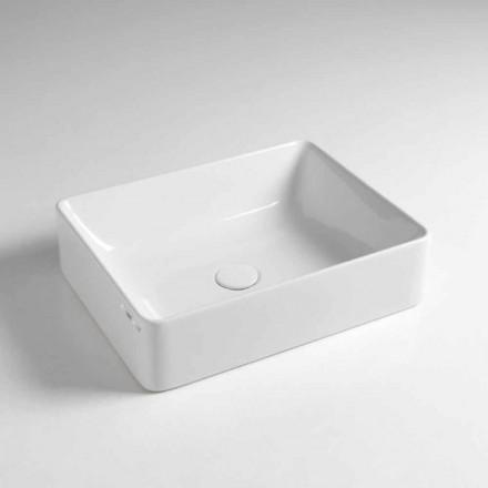 Lavoar dreptunghiular de blat L 50 cm din ceramică Made in Italy - Rotolino