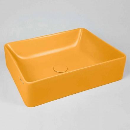 Lavoar dreptunghiular de blat L 60 cm din ceramică Made in Italy - Rotolino