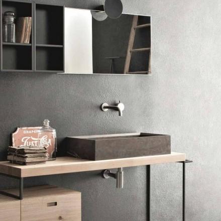 Lavoar dreptunghiular și modern pe blat în piatră de design - Farartlav3