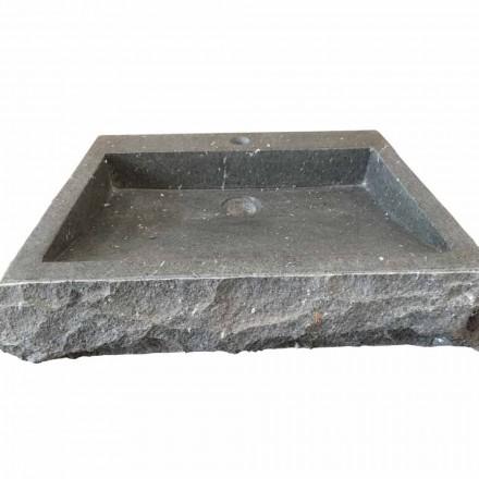 Nisa chiuvetă dreptunghiulară spălată manual din andezit din piatră