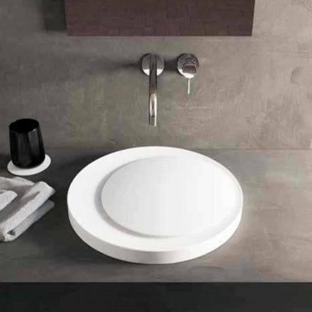 Proiectați o chiuvetă de spălat răsucit în Luxolid Solid Surface Crema