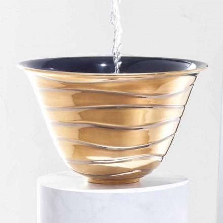 Chiuveta modernă în sticlă fabricată în Italia, Marcello
