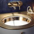 Bară de chiuvetă subțire în argilă de foc / 24 carate de aur fabricate în Italia, Egeo