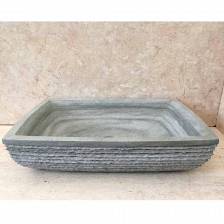 Design chiuvetă verde pentru baia Hilda, din piatră naturală