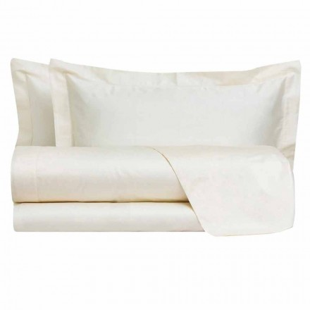 Foi solide de culoare completă din satin de bumbac pentru pat dublu - hibiscus