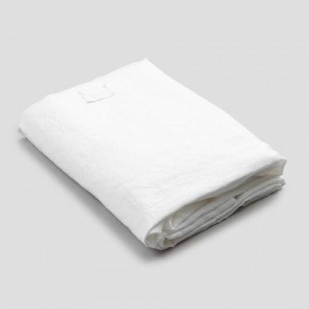 Lenjerie de pat albă pentru pat dublu, design de lux Made in Italy - Fiumano