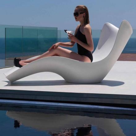 Șezlong modern în aer liber, din polietilenă, Surf de Vondom, 2 piese