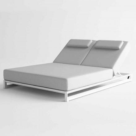 Șezlong de exterior în aluminiu și țesătură - Gioacchino