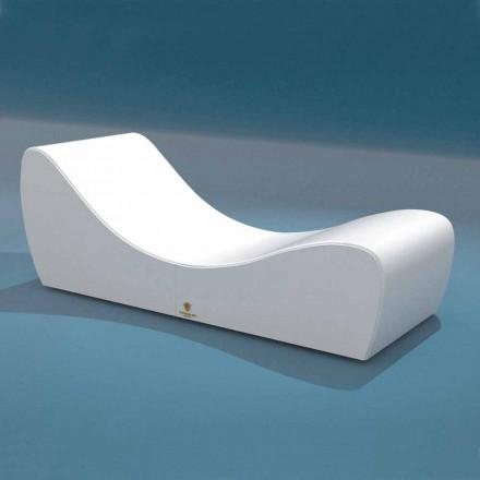 Cot relaxeze Wave Trona alb din imitație de piele nautice făcute în Italia