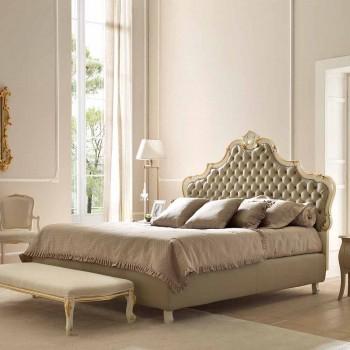 Pat dublu cu unitate de depozitare, design clasic, Chantal de Bolzan