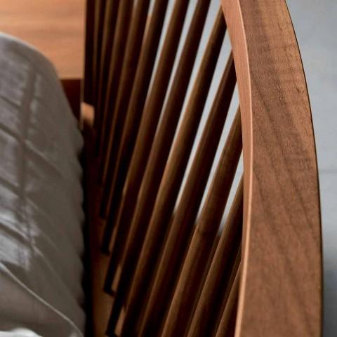Design pat dublu 160x200cm cu bază solidă de nuc Alain