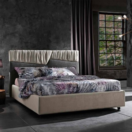 Pat dublu de design modern cu tăblie pliată sau matlasată - Alano