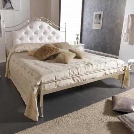 Capitonată manual pat dublu din fier solid Gracie