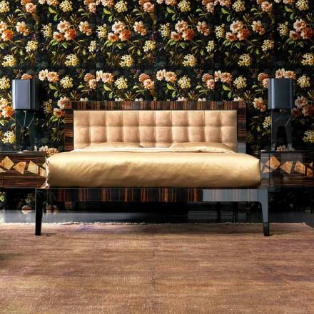 Grilli Zarafa a făcut Italia pat dublu tapițat de abanos