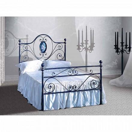 Un pat și jumătate pătrat de fier forjat Altea