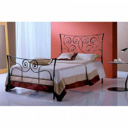 Un pat și jumătate pătrat de fier forjat Ares