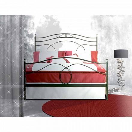 Un pat și jumătate pătrat de fier forjat Casiopeea