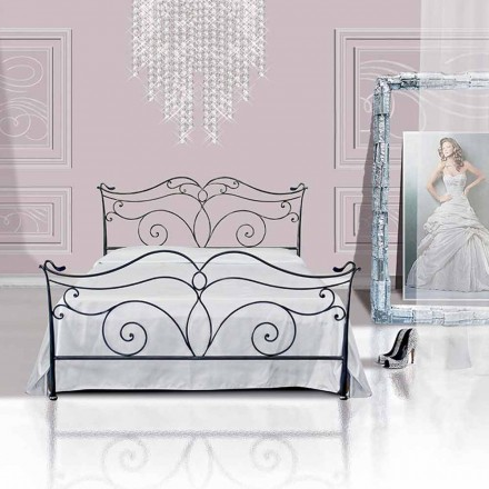 Un pat și jumătate pătrat de fier forjat Febo