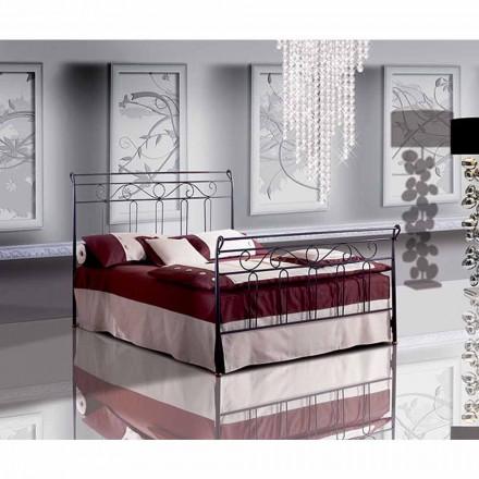 Un pat și jumătate pătrat de fier forjat Garofano