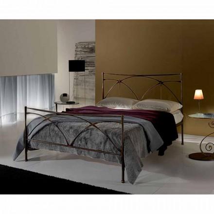 Un pat și jumătate pătrat de fier forjat Persefona