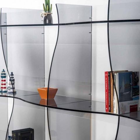 -Picioare liber bibliotecă / perete design modern Pam afumat, a făcut în Italia