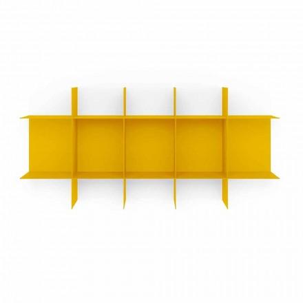 Bibliotecă de perete cu design modular din metal de înaltă calitate - Roger