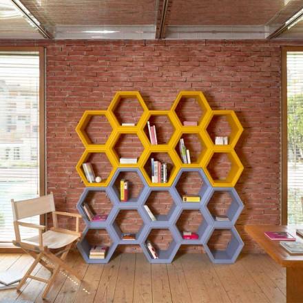Slide Hexa bibliotecă de perete colorate din Italia