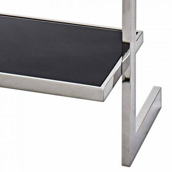oțel perete Bookcase și design sticlă 60x180x44cm Tafre