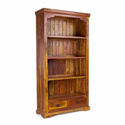Bibliotecă de podea cu design clasic din lemn de salcâm masiv Homemotion - Umami