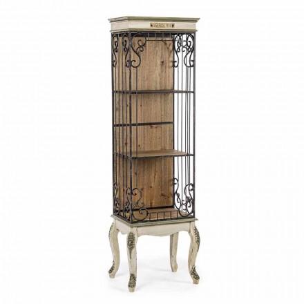Bibliotecă de podea cu design clasic din lemn și oțel Homemotion - Verena
