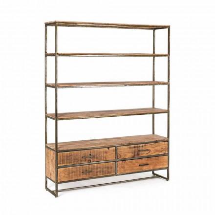 Rafturi pentru podele în stil industrial din oțel și lemn Homemotion - Zompo
