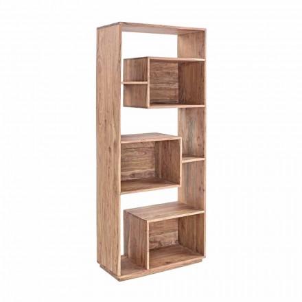 Bibliotecă pentru podea modernă Homemotion cu structură din lemn de salcâm - Genza