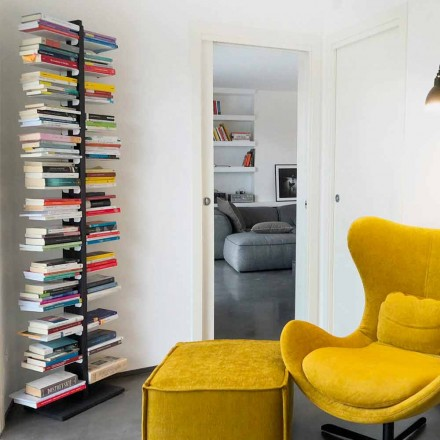 bibliotecă modernă de la sol atașat la perete tanti Bice
